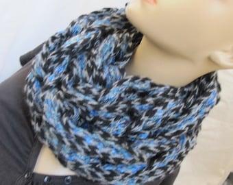 SALE - Blue Supreme Chunky Knit Infinity Scarf/Cowl (5013)
