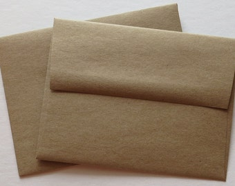 BBE2 Qty. 25 A2 70 lb.Recycled Brown Bag Envelopes 4 3/8 x 5 3/4 (11.11cm x 14.61cm)