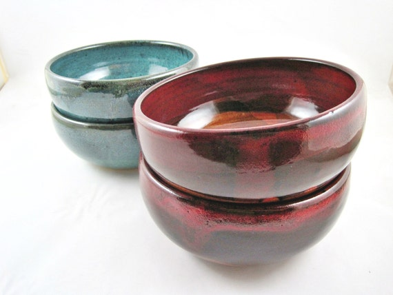 Soup bowls, preb bowls, serving bowls, pottery dishes, dinnerware - Made to order