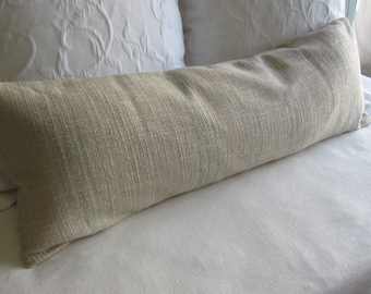FRENCH LAUNDRY 12x36 long Pillow Cover in SPA Stripes