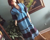 Calico dress for the prairie loving woman size medium vintage 70's