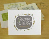Sympathy Card Set:  Handwritten Quotations, set of 4 or 8