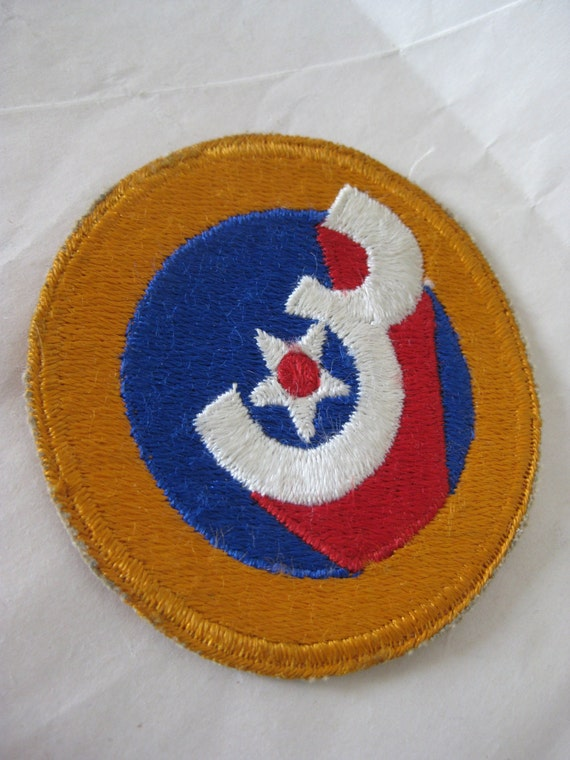 Yellow red blue army patch