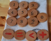 Educational Wooden Math Set - Great for travel