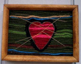 Heart Strings, Felted Art