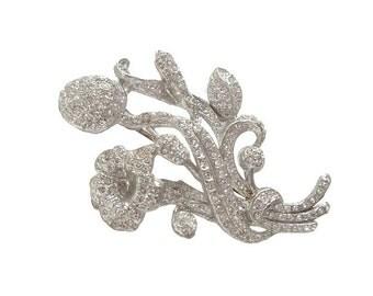 Antique Art Nouveau Brooch, Vintage 1900s Art Nouveau Bridal Jewelry, Wedding Jewelry