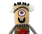 Walter - a cyclops minion monster rag doll