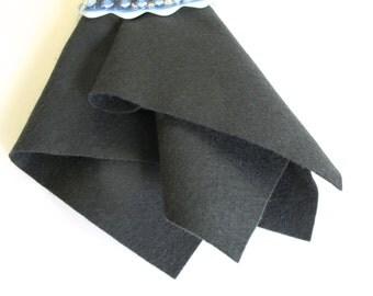 Slate Grey Wool Felt, Choose From Four Sizes, Felt Fabric, 100% Wool, Dark Gray Felt, DIY Craft Fabric, Wool Applique, Die Cutting