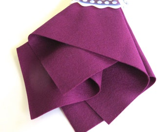 Wool Felt, Red Violet, Large Sheet, Choose a Size, Pure Merino Wool, DIY Craft Supply, Sewing Fabric, Nonwoven Wool, Applique, Felt Flowers