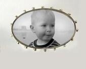 Oval Custom Photo Brooch