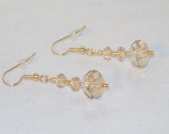 Swarovski Crystal Bridal Earrings - MADE TO ORDER in Any Color