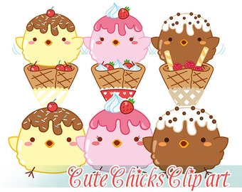 Clip art Cute Chicks - digital stamp