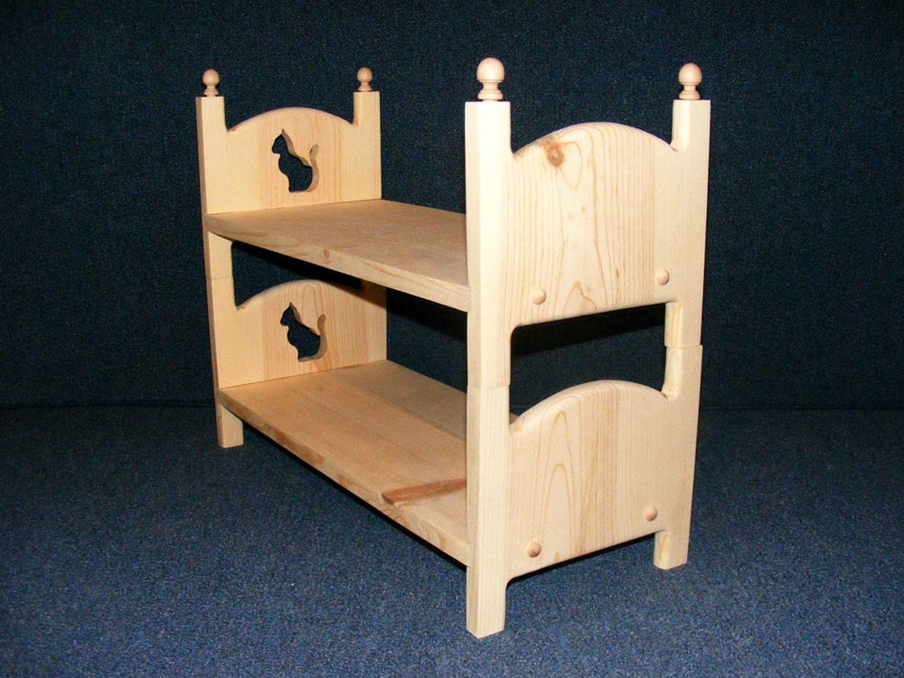 American Girl Doll Bunk Bed Kitty Cat Two Doll Beds Stackable
