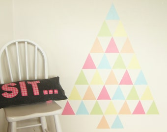 Summer sorbet triangles wall decal – fabric wall stickers