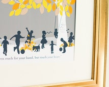 Family Tree Gift, Family Silhouette Art, Gift from Family for Grandparents // You Choose Size & Type // H-F05-1PS HH9