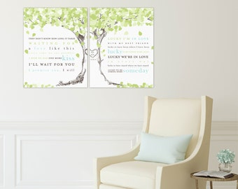 Wedding Song Lyric Art, First Dance Song Lyrics, Wedding Lyrics Wall Art // Art Print or Canvas // 007 W-L21-2PS HH4