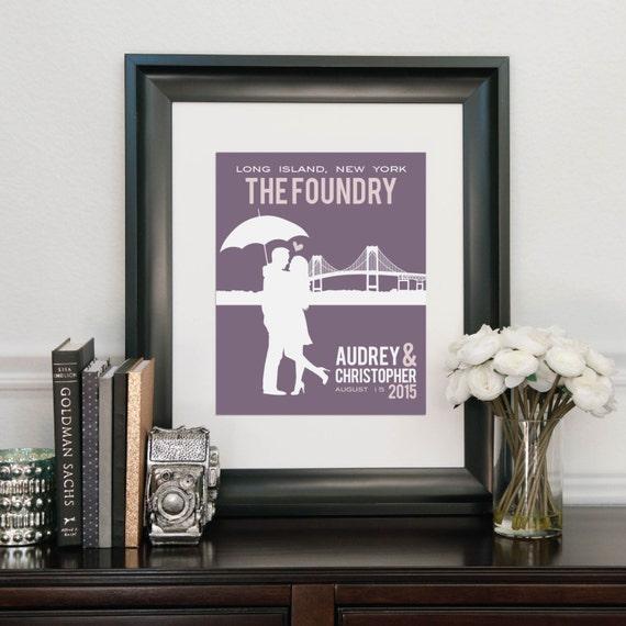 Unique Wedding Gifts For Newlyweds : Wedding Skyline Art, Gift for Newlyweds, Personalized Wedding Art ...