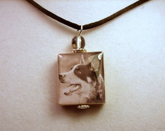 Australian Cattle Dog Scrabble Pendant / Beaded Necklace / Charm / Handmade Jewelry / Dog Gift