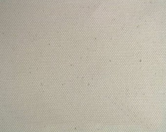 ORGANIC Cotton Duck Canvas Fabric NATURAL For Apparel Home Decor Upholstery Slipcovers Crafts