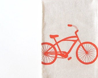 Cotton Kitchen Towel with Cruiser Bike
