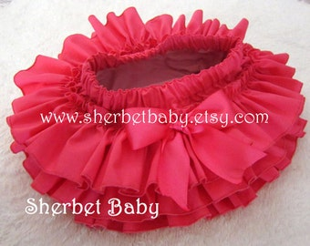 Hot Pink All Around Ruffle Sassy Pants Ruffle Diaper Cover