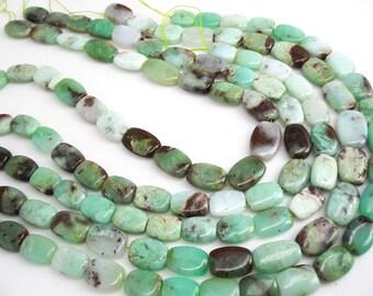Chrysoprase Beads, Chrysoprase, Oval Shape, 11mm x 15mm, 16 inch strand, weddings, bride bridal, SKU 3959A