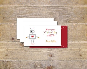 Valentine's Day Cards . School Valentine's . Cards for Valentine's Day . Valentine's -  Silly Robot