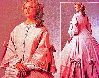 Historical Womens Civil War Dress Pattern Gone With The Wind Costume Pattern Misses size 6 8 10 12 UNCUT Ball Gown Sewing Pattern