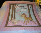 Handmade Baby Bambi And Thomper Cotton Baby/Toddler Quilt - Newly Made2016