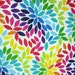PETALS Cotton Print Fabric 1 Yard Colorful Bright on White 100% cotton Fabrics for Creative Genius Projects