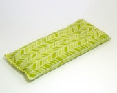 Organic Cotton Yoga Eye Pillow - Green - Chartruese - Yoga pillow - unscented or with lavender
