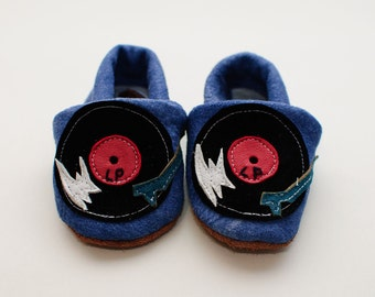 Last night a DJ saved my life. Rock n Sole Baby Slippers