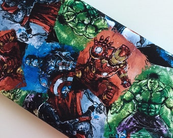 Marvel Avengers Character Patch Blocks cotton woven by the yard