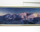 Vintage Will Landon Panoramic Photo Cascade Mountain Range Cascades Washington Photograph