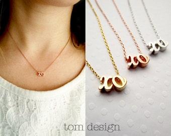 XO Necklace Cursive - Silver XO Necklace Gold xo Necklace Rose Gold xo Necklce Love Necklace Bridal Jewelry Valentine's Hugs & Kisses