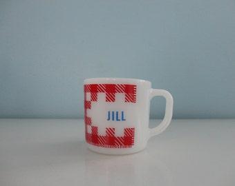 VINTAGE federal milk glass JILL MUG