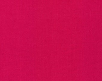 Organic Cotton Fabric, Cloud9 ,Cirrus Solids in Fuchsia, by the yard