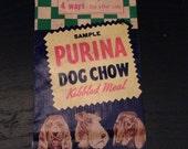 VINTAGE Sample Purina Dog Chow Kibbled Meal Bag