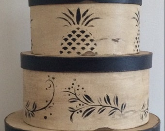 Paper Mache # 26 Primitive Pineapple Set of 5