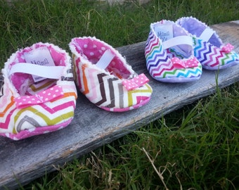Handmade Quilted Baby Shoes