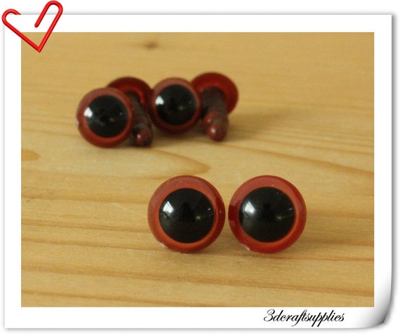 10 mm Black tea Safety eye amigurumi eye doll eyes cat eye 20