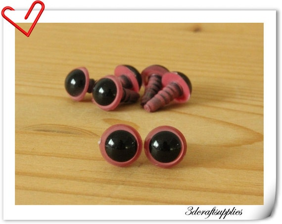8 mm Pink eye amigurumi eye doll eyes cat eye 24 pieces EB24