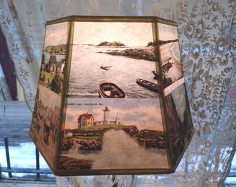 Lamp Shades Albany Ny: Maine Lamp Shade ,Lampshade Postcard Beach Scenes - House Gift - 7