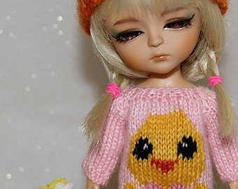 SALE - Lati Yellow-Pukifee - Chick with a Bow Sweater - Pink - LIMITED