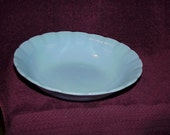 Vintage--Blue--PYREX--DELPHITE--Dish--Scalloped Edge--Made In Canada--Pie Crust Pattern