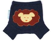 "WOOL SHORTIES - Wool Diaper Cover - ""Lion Around"" - X-Small Newborn"
