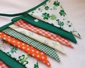 Bunting- Luck of the Irish - Fabric Garland, Bedroom Decor, Photo Prop, St Patricks Day