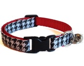 Houndstooth Cat Collar with Breakaway Safety Buckle
