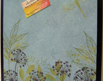 Wildflowers ..Magnet Dry Erase Memo Board / Housewarming Gift / Office Decor / Organization / Desk / Coworker / Message Board / Wall Decor