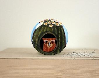 Cactus Owl - Pocket Mirror